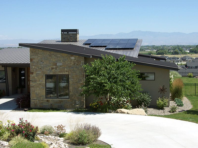 Boise Residential Solar Project, Solar Panels on Roof