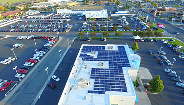 Solar commercial installation at MiddleKauff Ford Honda